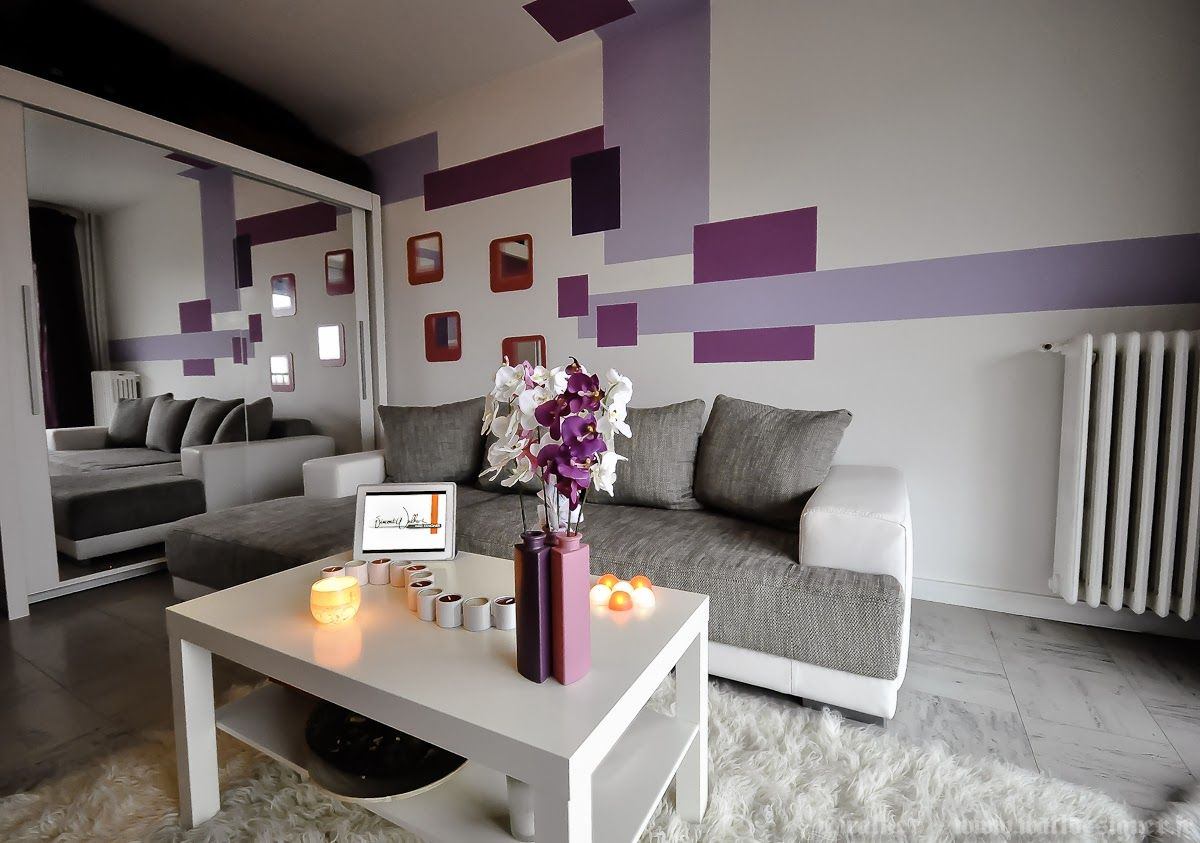 Decoraci n en espacios peque os violeta gris for Apartamentos decoraciones modernas