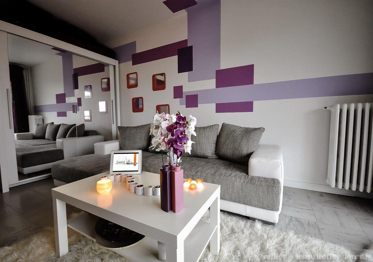 Decoración en espacios pequeños violeta gris  Salones grises
