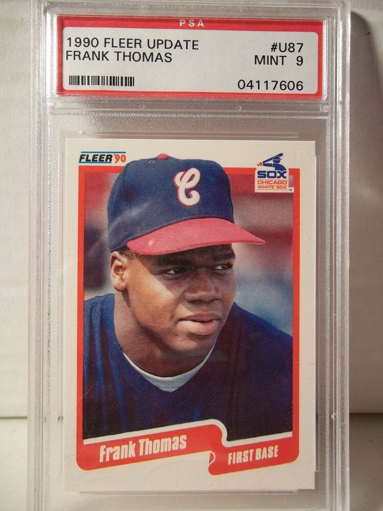 1990 Fleer Update Frank Thomas PSA Graded Mint 9 Baseball