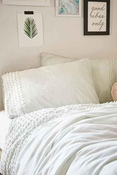 Plum Amp Bow Tufted Dot Duvet Cover Modern Bed Linen Home