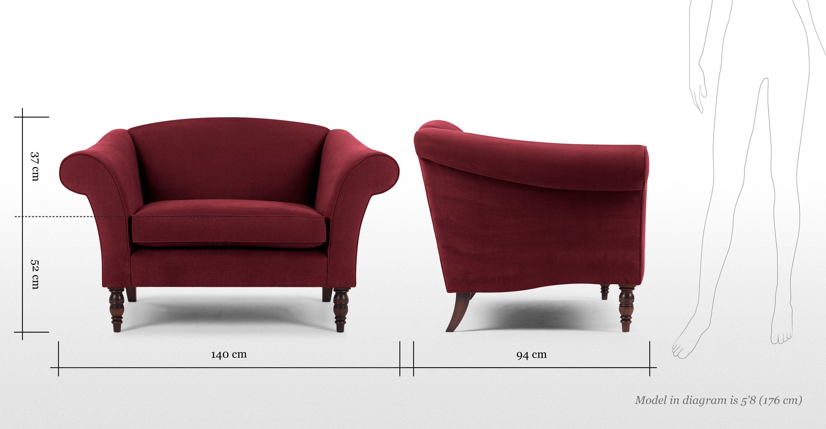 Garston รักที่นั่งสีแดงพระคาร์ดินัล | made.com