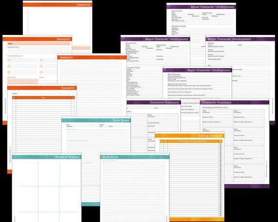 deluxe novel writing worksheets bundle brushstrokes pdf