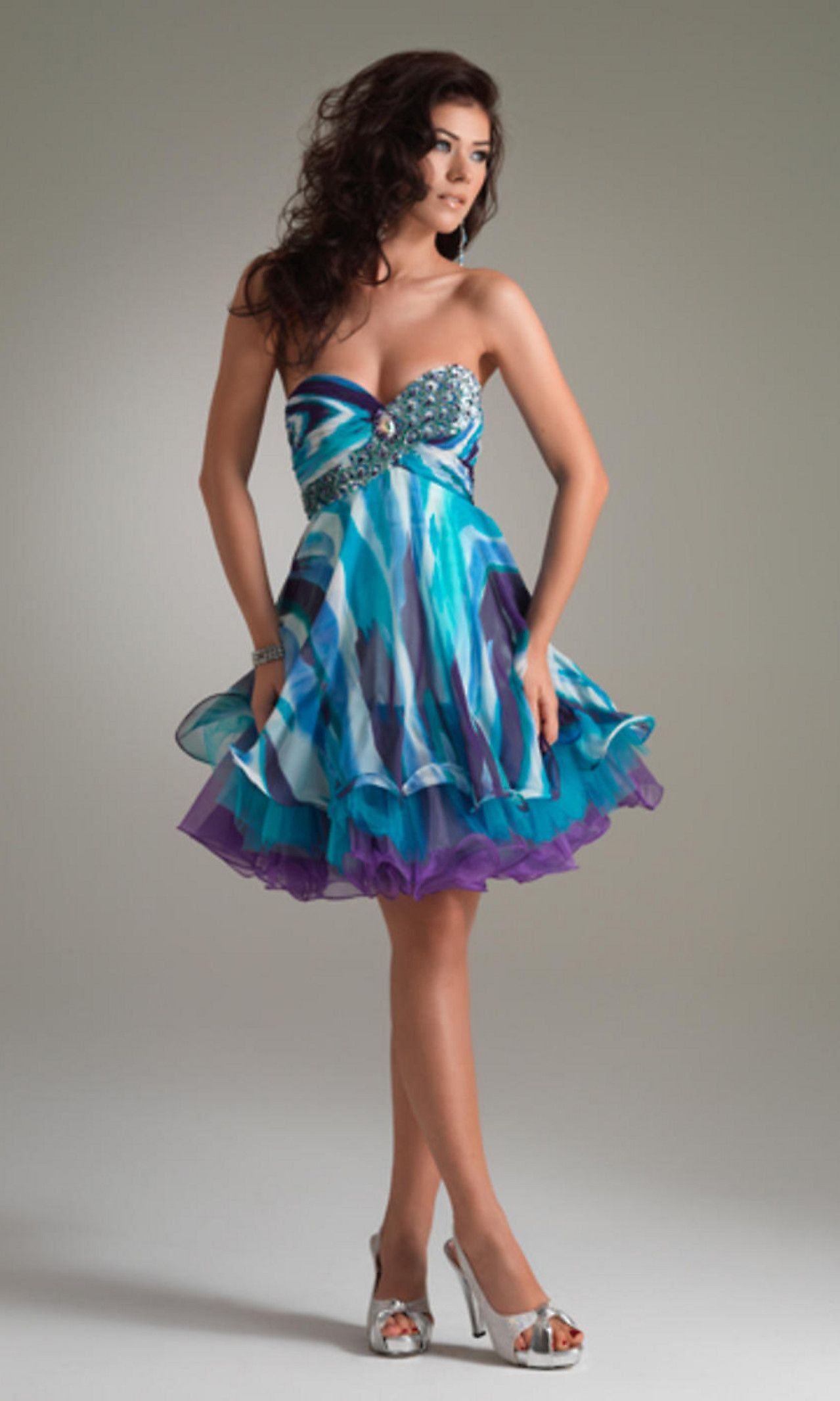 Short Multi-Color Homecoming Dress by Jasz | Dresses | Pinterest ...