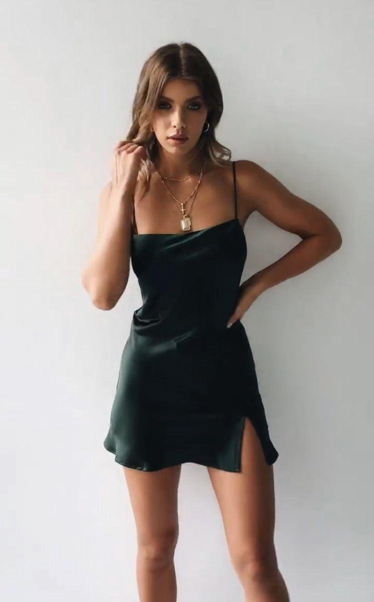 Slip dress outfit / mini black dress/ date night dress/ stagecoach outfit - Slip dress outfit