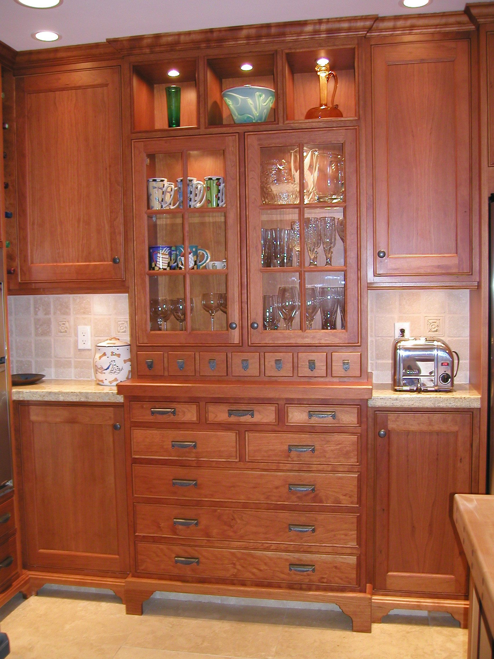Craftsman Style Kitchen Hardware Rolling Island Mission Cabinets Pictures New Cherry