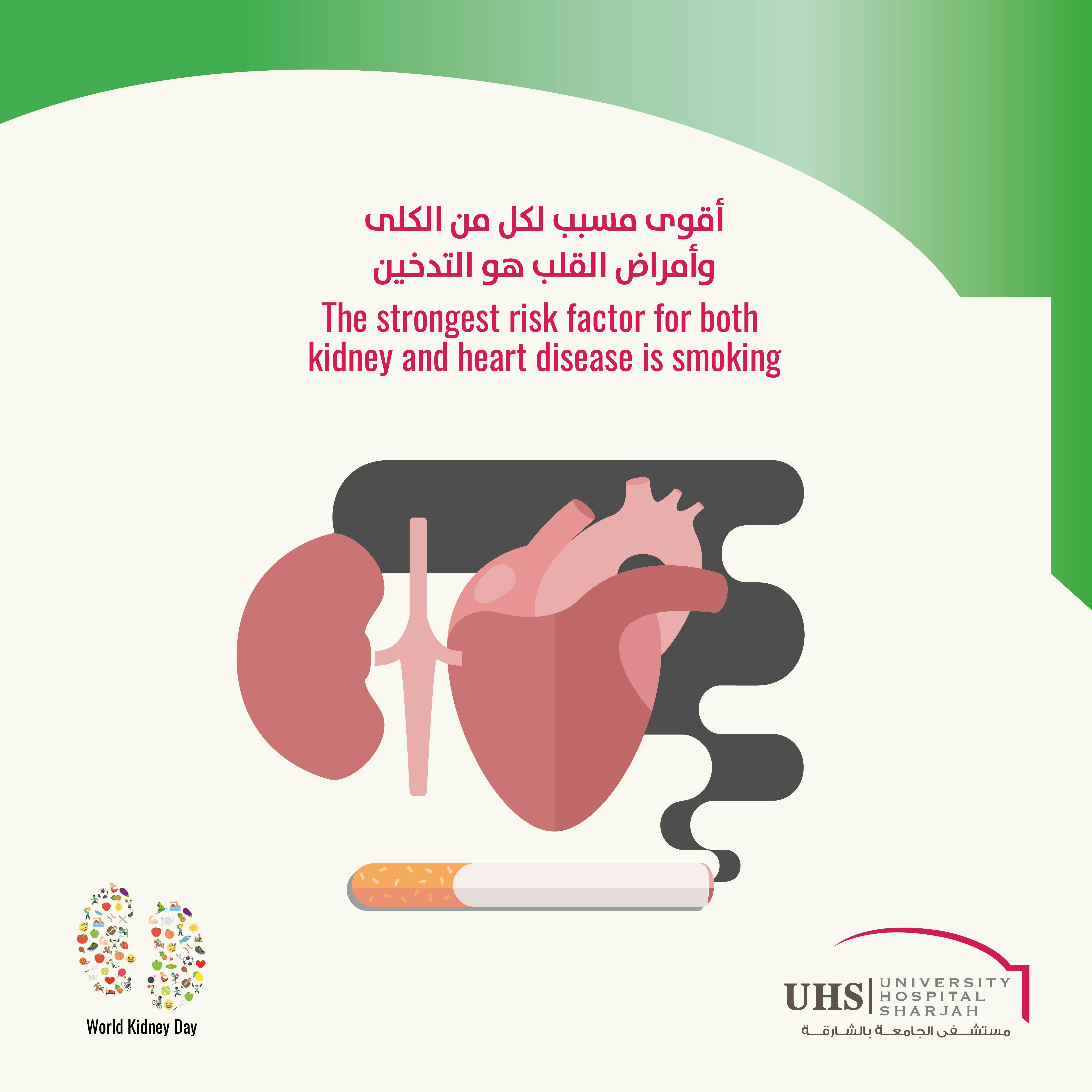 أقوى مسبب لكل من الكلى وأمراض القلب هو التدخين لأنه يسبب تصلب الشرايين الذي بدوره يسبب كل من مرض الشر Coronary Artery Disease Medical Information Heart Disease