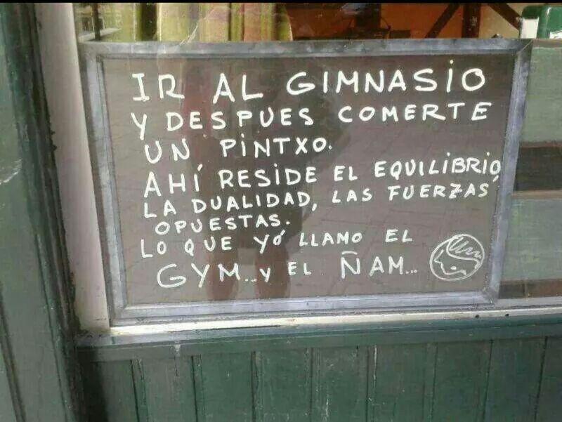 El gym y ñam!!!