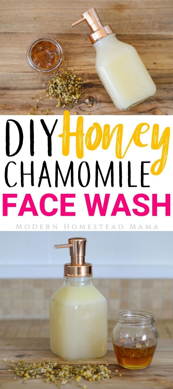 DIY Face Wash - Honey Chamomile For Sensitive Skin and Anti-Aging #homemadefacelotion