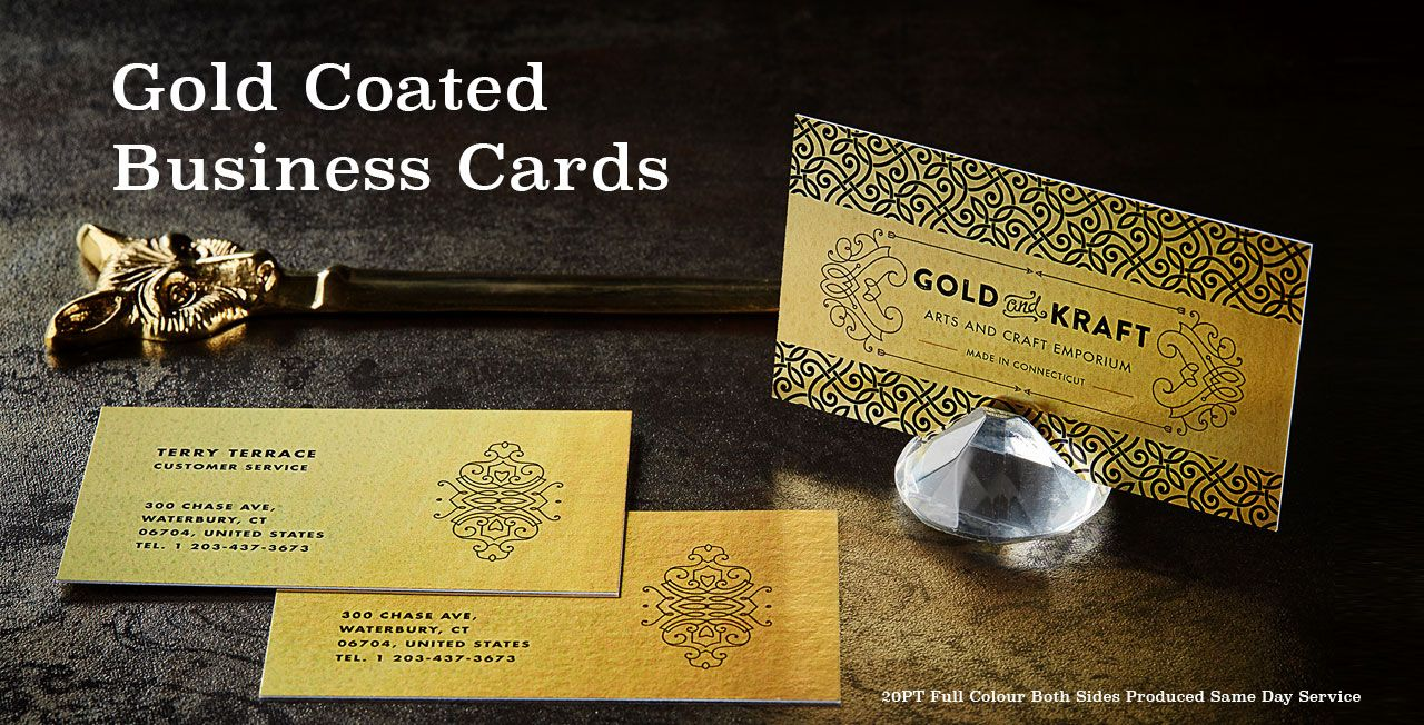 Gold Coated Business Cards from Jukebox Print | Cool promo and ...