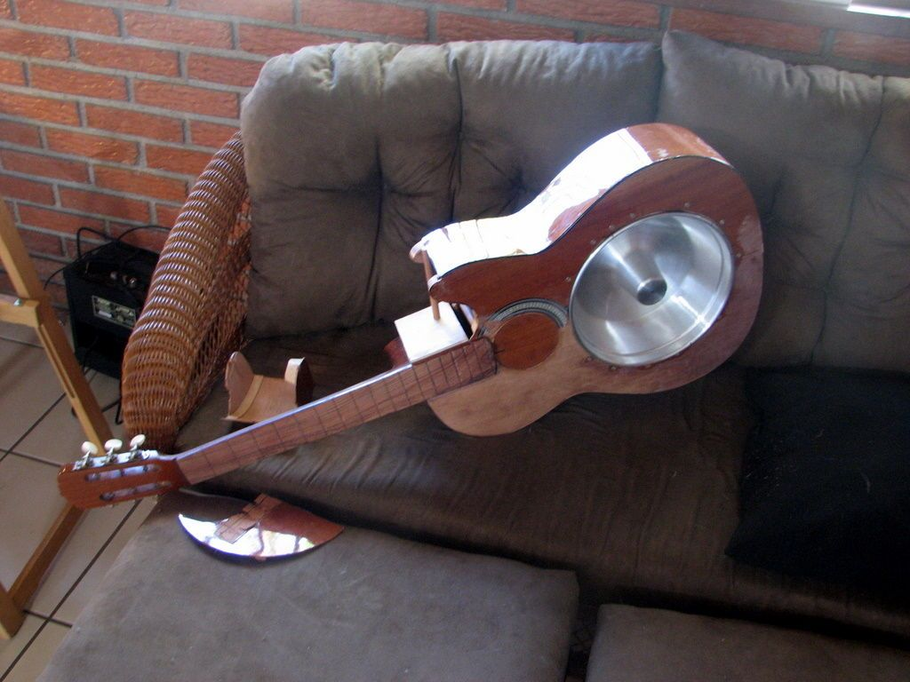 Resonator Guitar Converted From Old Acoustic Guitar Resonator Guitar Acoustic Guitar Acoustic