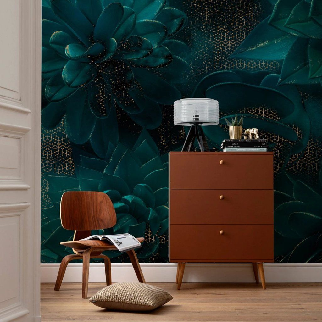 Everlasting Succulents Mural Wallpaper in 2020 Mural