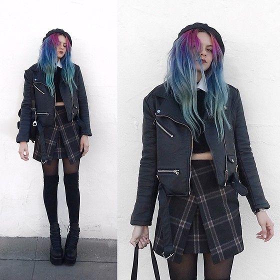 Mickylene Delgado - Stylewe Plaid Skirt - American Girl Goth Doll™