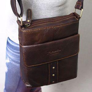 Estilo-Vintage-De-Cuero-Genuino-Messenger-Hombro-Mini-Bolso-cuerpo-transversal-purse-6821