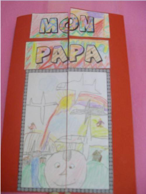 Carte f te des p res 2012 cp ce1 lapbook crafts for kids pinterest cycling and craft - Carte fetes des peres a imprimer ...