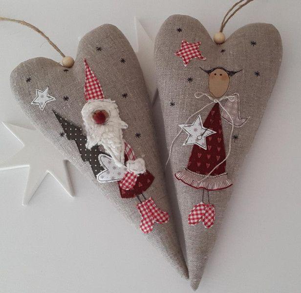 xxl herz weihnachten engel landhaus  weihnachten