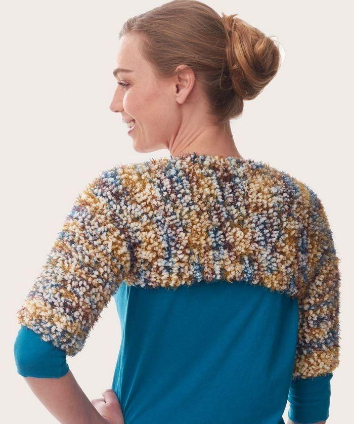 Blissful Knit Shrug   Shrug pattern, Shrug knitting ...