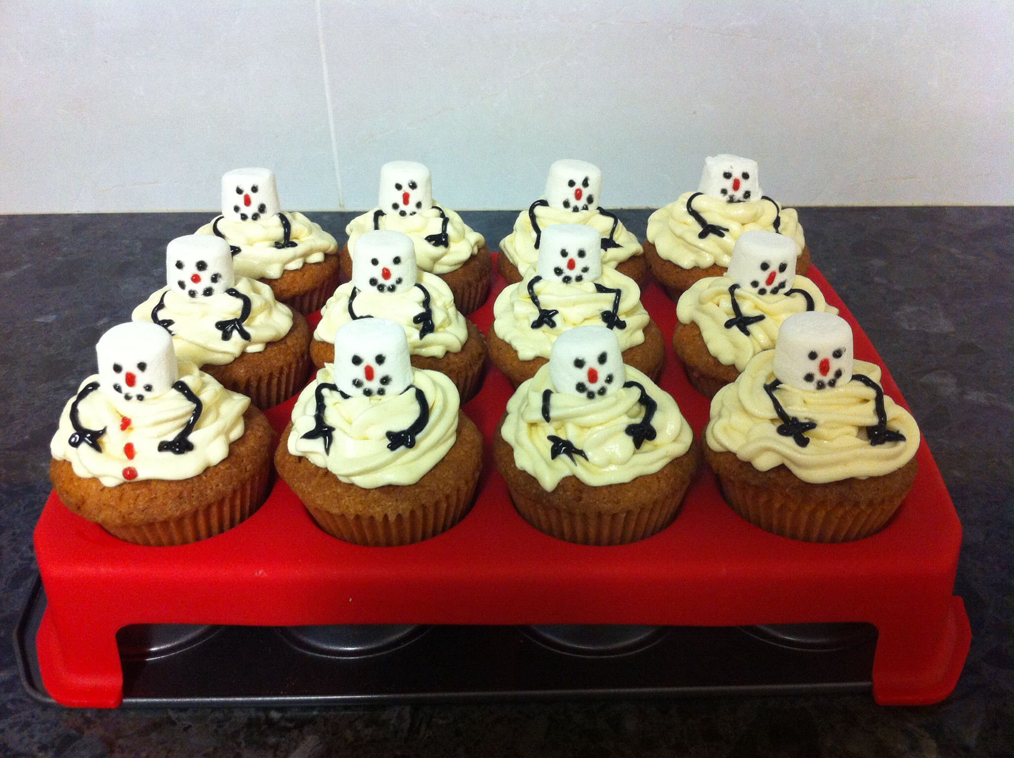 My melting snowmen army :D