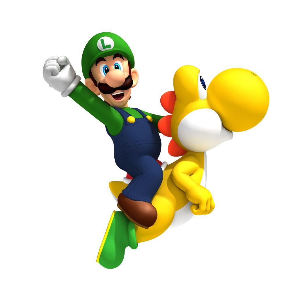 Luigi And Yellow Yoshi Stuff I Love Super Mario Bros Mario Bros