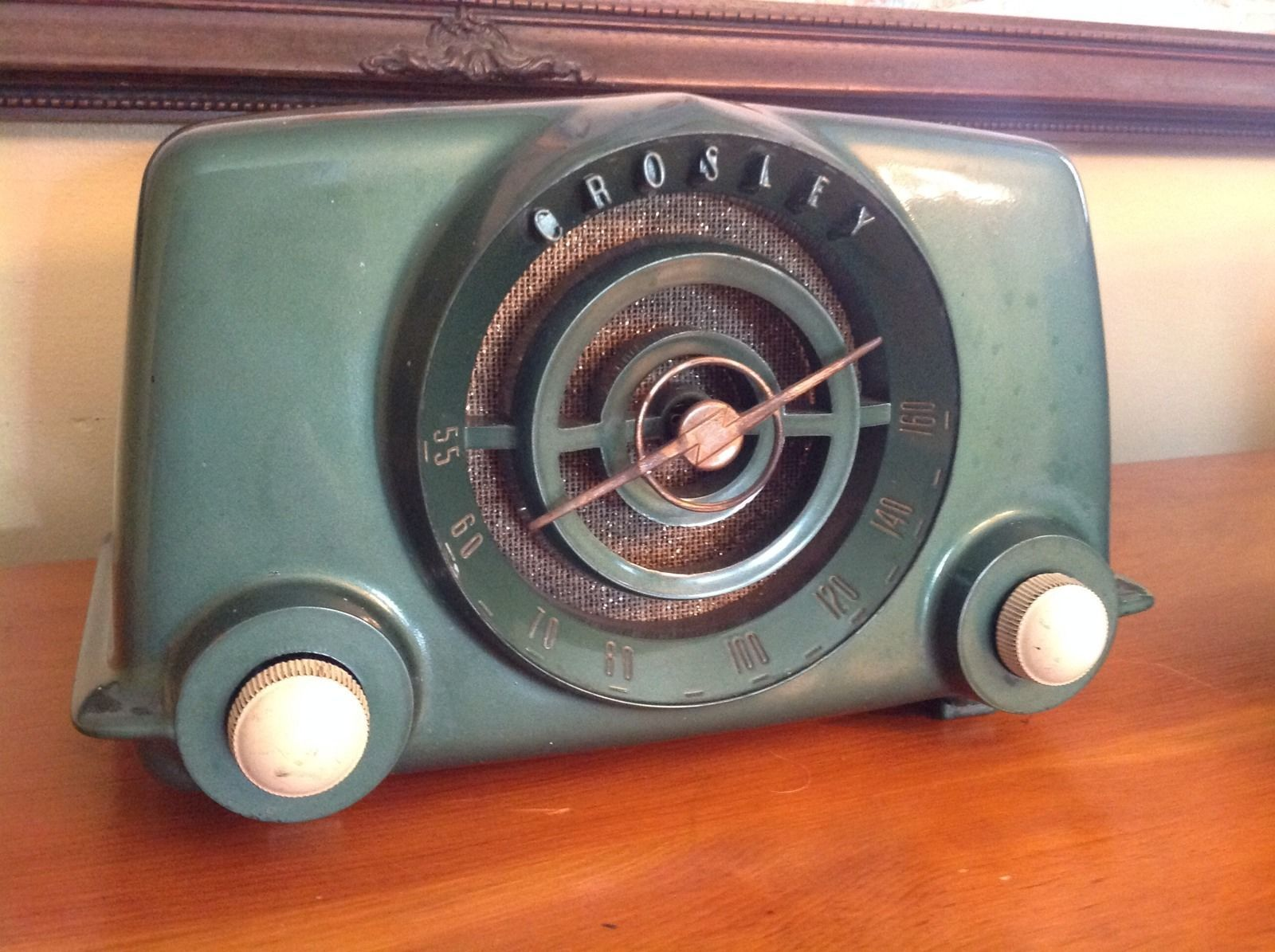 Crosley Radio Vintage Crosley Radio Model 11 102 U Green Double Knob Tube Radio