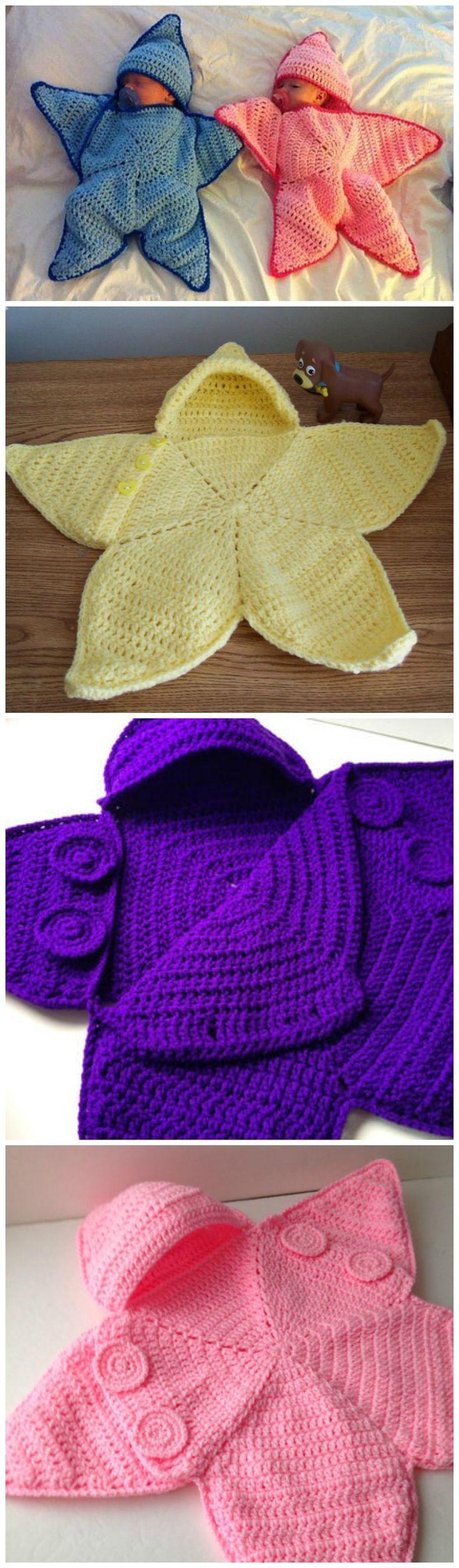 Crochet Baby Bunting Twinkle Star Baby Toddler Crochet