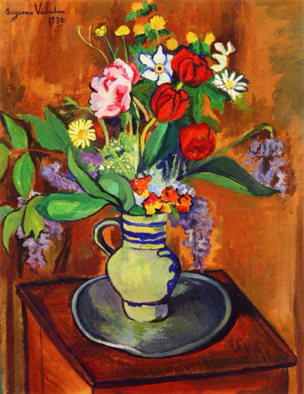 Suzanne valadon vase of flowers art i appreciate pinterest blooming brushwork garden and still life flower paintings suzanne valadon reviewsmspy