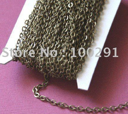 2mm flat cable cross link chain antique brass bronze Jewelry Findings Accessories Components $90.53