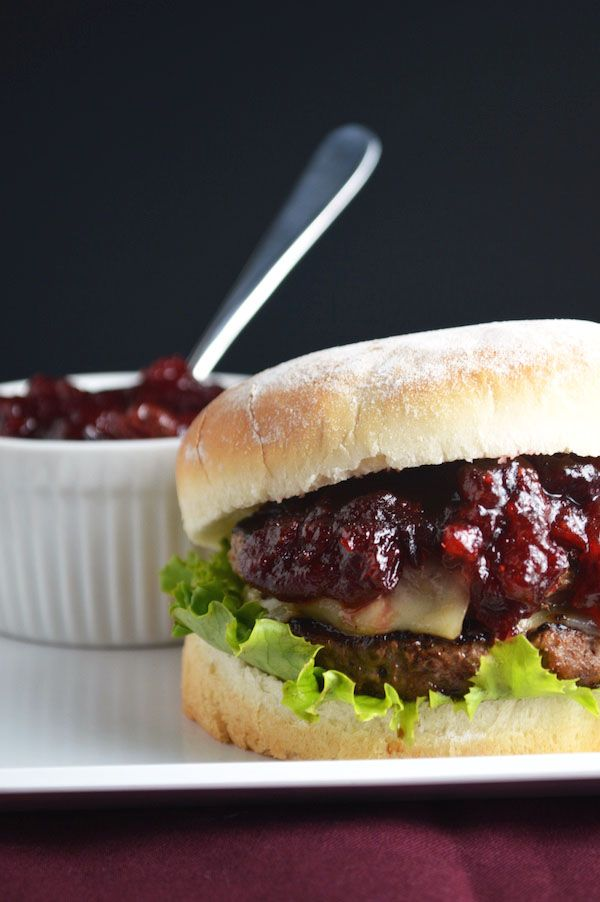 I love this Cranberry BBQ Sauce on these perfect burgers! Cranberry season is almost here :) :)
