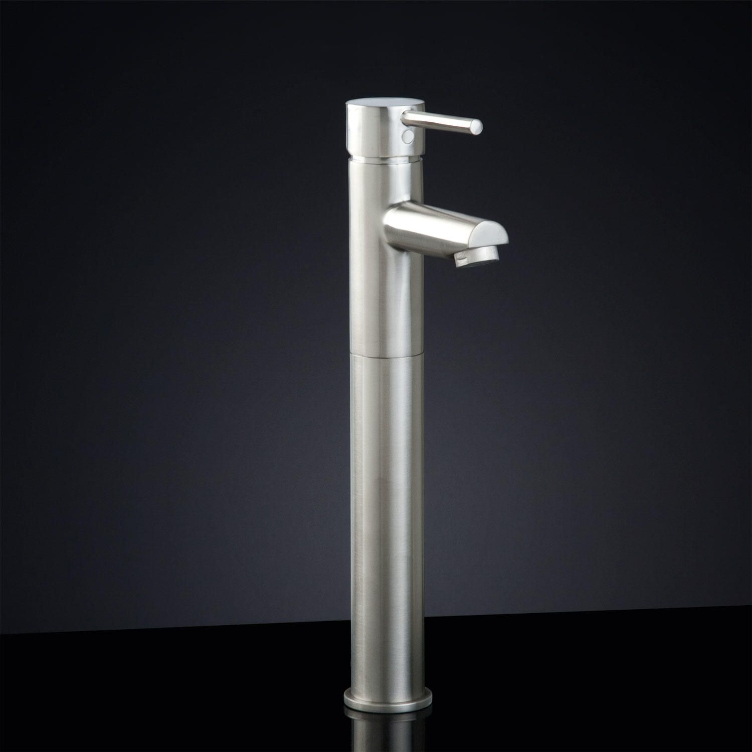 Rotunda Straight Spout Single-Hole Vessel Faucet with Pop-Up Drain ...