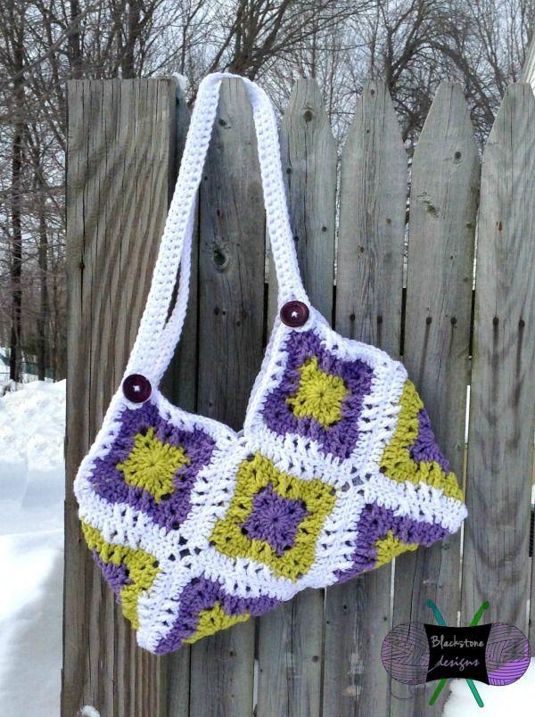 Windmill Square Fat Bottom Free Crochet Bag Pattern Fiber Flux