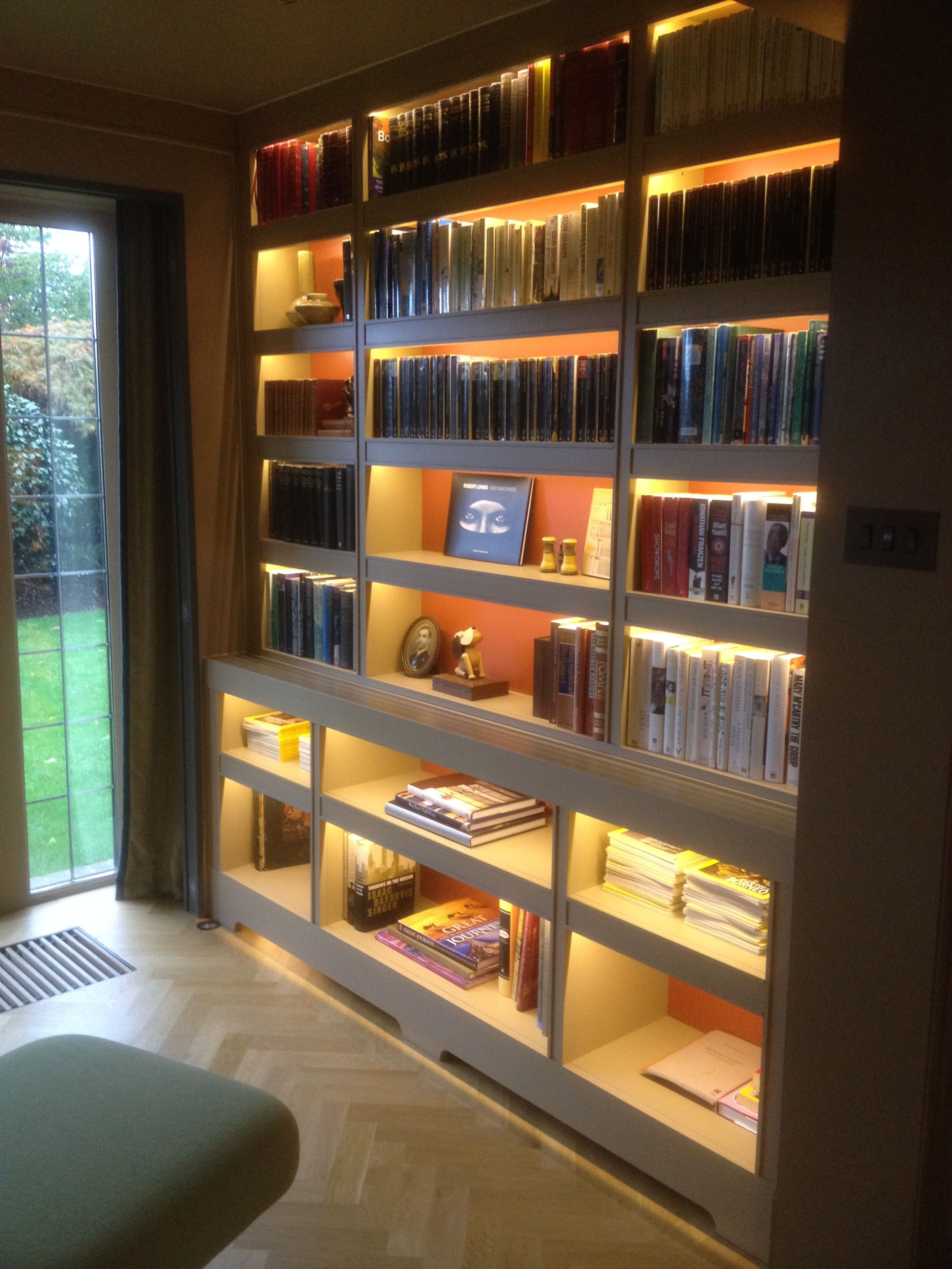 Fitted Bookcase With Incorporated Led Concealed Lighting
