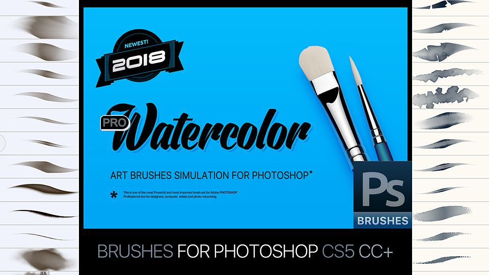 Rm Watercolor 2018 Pro Brushes For Photoshop With Images