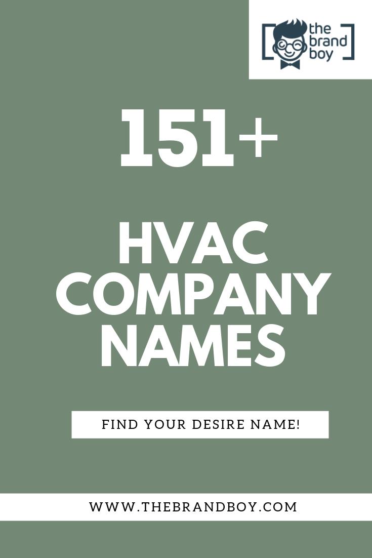 351 Best Hvac Company Names Ideas Thebrandboy Com Hvac Company Company Names Creative Company Names