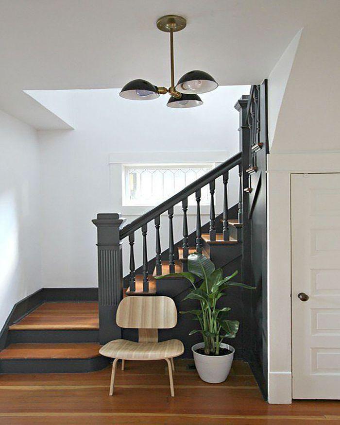 1001 Idees Pour Realiser Une Deco Montee D Escalier Originale Repeindre Escalier Peinture Escalier Escalier Bois
