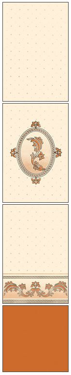 Millennium Tiles 200x300mm (8x12) Luster Concept Design Ivory Ceramic Wall Tiles - 803 - 802 - 801 - Copper Brown