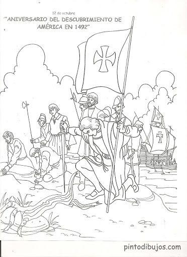 Cristobal Colón descubriendo América para colorear | Actividades ...