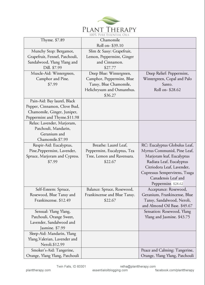 doterra young living comparison chart