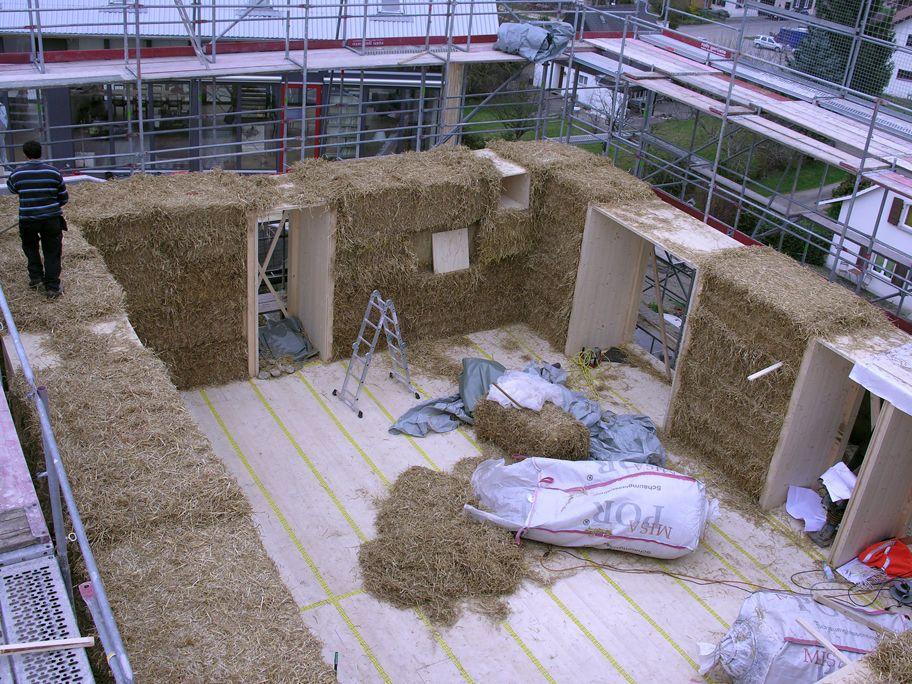 strohhaus oetterli portmann strohwand eg from construction pinterest strohballenhaus. Black Bedroom Furniture Sets. Home Design Ideas