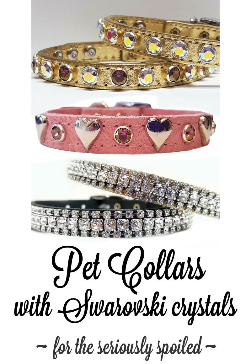 Fancy designer dog and cat collars with Swarovski