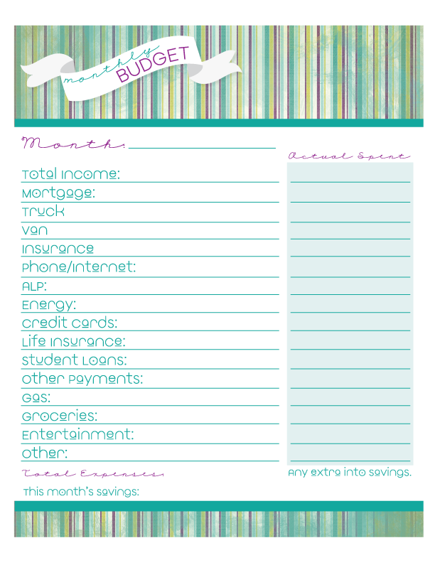 heather rolin free monthly budget printable organized chaos