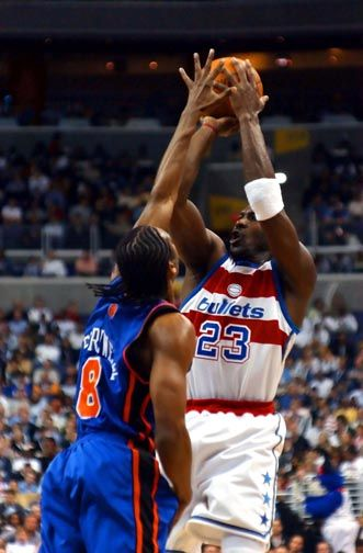 pretty nice 89e21 11687 Jordans final shot Washington Wizards Michael Jordan scores two points  against New York