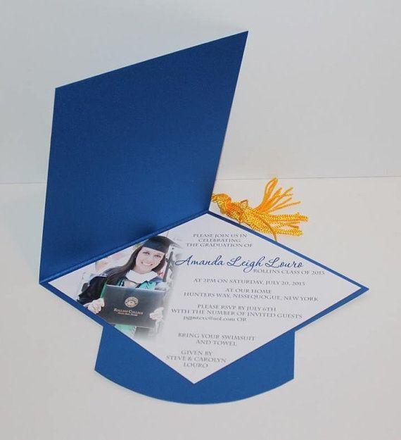 graduation cap invitation by divonedesign on etsy