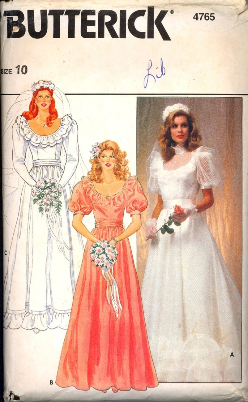 Early 1980s Wedding Gown Bridesmaid Dress In Size 10 This Dress Shows A Lot Of Wedding Dress Patterns Wedding Dress Sewing Patterns Womens Wedding Dresses [ jpg ]