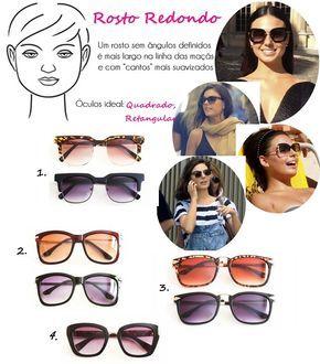 2f59f0875349a Óculos de Sol Ideal para Cada Tipo de Rosto redondo