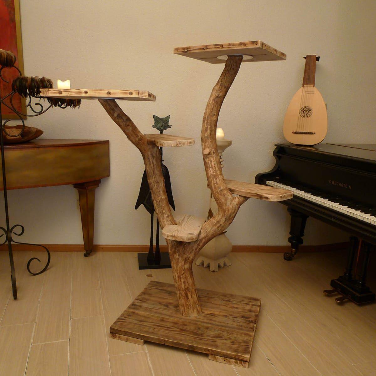kratzbaum aus naturholz asten kratzbaum mittelgro. Black Bedroom Furniture Sets. Home Design Ideas