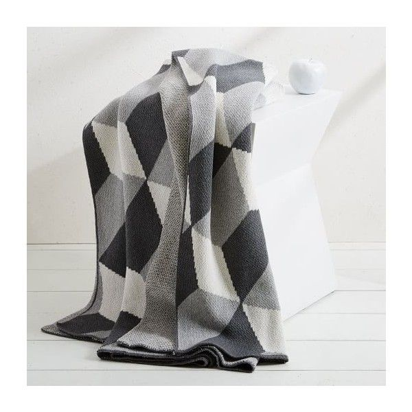 West Elm Throw Blanket Simple West Elm Happy Habitat Hex Tricks  Throw Blankets  Bedding $160 Inspiration Design