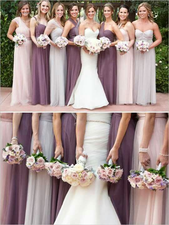 Bridesmaid dresses multiple colors