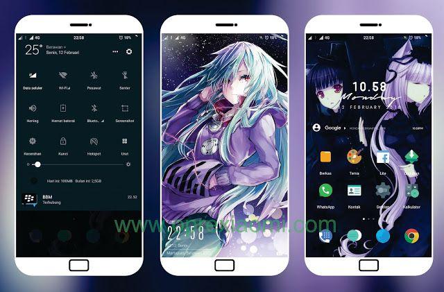 Theme Xiaomi Full Black V2 Mtz Terbaru Tembus Aplikasi WA IG BBM
