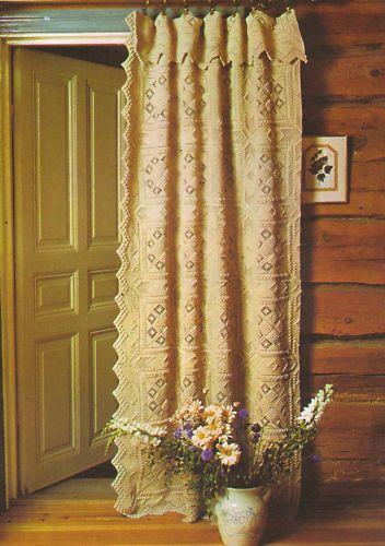 Vintage Crochet Pattern Chic Door Curtain or Bedspread