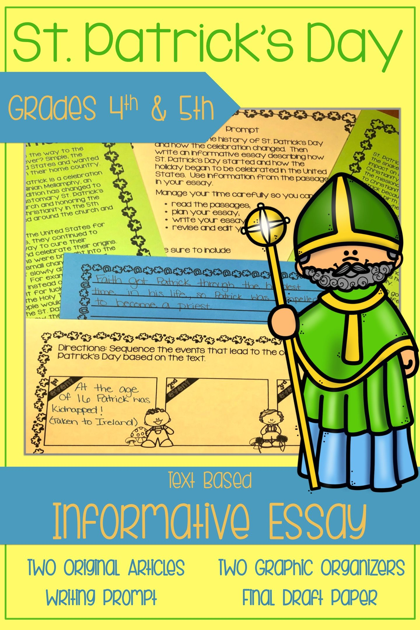 St Patrick S Day Writing Text Based Informational