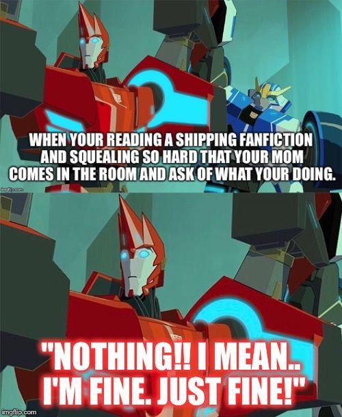 Transformers Fanfiction meme  Sideswipe's face though